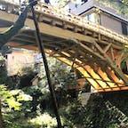 コオロギ橋 橋の名の由来は かつては行路(こうろ)が極めて危なかったので「行路危」と呼ばれたとされ、また一説には秋の夜に鳴くコオロギに由来するともいわれています。  #サント船長の写真 #全国橋巡り