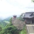 立石寺  山寺  山形県  最近のJRの広告にもなっているこのお寺。 生憎の天気ですが、晴れていればより絶景。