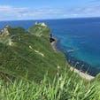 神威岬  北海道  積丹ブルーな海、この先の灯台までふらっと歩ける。 でも意外と道のり大変。
