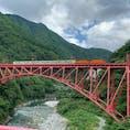 富山県黒部宇奈月温♨️ トロッコ列車がいい感じに撮れました。