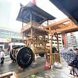 祇園祭り 山鉾の組み立て 月鉾 (三日目) コレで後は飾り付けをして完成ですね。  #サント船長の写真 #祇園祭り #京都