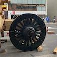 祇園祭り 山鉾の組み立て 月鉾 (三日目) 車輪が付けられました。  #サント船長の写真 #祇園祭り #京都