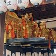 祇園祭り 八坂神社 左から東御座 中御座 西御座で17日の夕刻から、四条新京極のお旅所に向けて市内を巡ります。  #サント船長の写真 #祇園祭り #京都