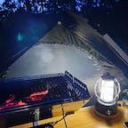 近江八幡の休暇村でキャンプしましたー。虫も少なく、琵琶湖も見渡せて最高でしたー。
