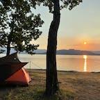 北海道・屈斜路湖の砂湯キャンプ場です。夕暮れが最高に美しかった…(*´∀`*)