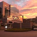 京都駅の夕焼け