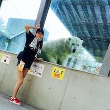 2021.7.28 in 徳島 徳島動物園  大きなしろくま! 近くで見れて、びっくり!