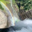 黒部ダムと虹🌈