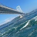 徳島の渦潮♪♪ 小さい頃見た時とはまた違う迫力^^ 大人になってあちこち旅行すると 小さい頃行った場所でも見方も感じ方も違う😊