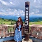 美ケ原高原高原美術館⛰🏞 こちらは展望台からの写真ですが、作品一つ一つが大きくて、すごく見応えがあります✨ 時間をかけてゆっくり見て回って正解でした🖼🧸🎀