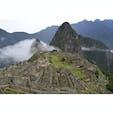 南米ペルー・マチュピチュ 最初マチュピチュに着いた時点では真っ白で何も見えなかったけど、少しずつ天空都市が姿を現した