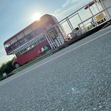 糸島😊 LONDON BUS CAFE  夕日が良き感じ🎶  #LONDON BUS CAFE #インスタ映え #ドライブ #福岡 #糸島市