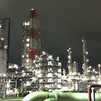 2020.10.14 鹿島臨海工業地帯  工業地帯がなんと観光スポットなんですね〜。深夜だったからすごい映えた。