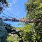 かずら橋の下を流れる渓谷もとっても綺麗です。