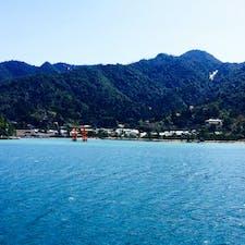 宮島 厳島神社⛩ 潮の満ち干きで 鳥居の見え方がかわる𓏸𓈒