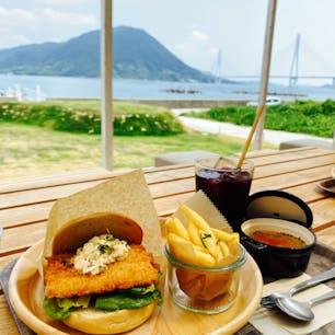 2020.9.4 愛媛県大三島のWAKKA CAFA  多々羅大橋や生口島のレモン畑が見える気持ちのいいカフェ