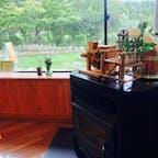 2021.9.19 グリーンパーク吉峰 日帰り温泉からの カフェカモミール 窓からハーブ🌿園が見えます
