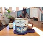 仙川のカフェ「niwa coya」。ランチのドリンク。マグカップが可愛い。ハーブティーなどドリンクもいろいろありました。