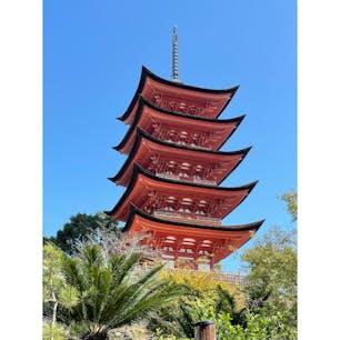 厳島神社 五重の塔
