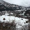 白川郷[岐阜]  2月に行った時の写真!  時間がない中、急いで登って見た景色は格別だった☆ 雪が少なくてもっと積もっていたらなと思っていたら、次の日にたくさん雪が降りました…笑