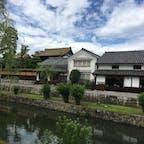 倉敷美観地区。古い町並みが可愛らしい。
