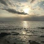 江ノ島・稚児ヶ淵からの夕日  天気に恵まれた鎌倉・江ノ島エリアは人で溢れてました〜