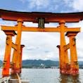 厳島神社の大鳥居♡ 船で真下まで✨ 広島・1807