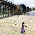 岩国錦帯橋✨ 川の水も綺麗で冷たかった😍 山口・1807