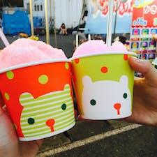 亀川祭りでかき氷♡