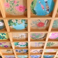 正寿院 京都  天井画もとってもオシャレ♡  インスタで有名になった猪目窓(ハートの窓)とともに、素敵なお部屋です。