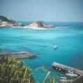 慶良間諸島 渡嘉敷港。 ホンモノの慶良間ブルー。 #慶良間ブルー #沖縄 #離島