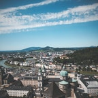 ザルツブルク城から見た街並み。  街の感じがわたし好みでまた行きたい素晴らしい街。  #ザルツブルク