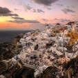 ギリシャのサントリーニからの夕焼け  #ギリシャ #サントリーニ #サントリーニ夕焼け #世界旅行