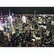 エンパイア・ステートからの夜景。昼も向かいのトップオブザロックで景色を見たけど、ニューヨークはやっぱり夜景が綺麗。明かりの数が半端ない。