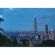 台北101タワーと夜景。 象山歩道から。
