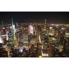 @Empire State Building, NewYork   これぞニューヨークって言いたくなるような最高に刺激的な夜景でした🇺🇸
