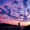 伊豆の恋人岬 寄り添う銅像がこの風景にとてもお似合い