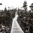リトアニア🇱🇹シャウレイ 十字架の丘 冬に行ったのもあって圧倒的ミステリアス感