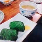 岡山 倉敷美観地区 高菜ご飯 おにぎりの周りに高菜が巻いてあり、食べ応えがありました。