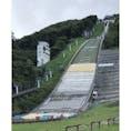 札幌オリンピックミュージアムにある、スキーのジャンプ台。間近で見るとめちゃくちゃ迫力あった。