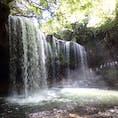 裏見の滝で有名な阿蘇にある鍋ヶ滝。シャッタースピードの練習には最適?笑