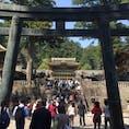 日光東照宮 栃木県  晴れていると輝きが更に増す。 いつ行っても観光客は多い。
