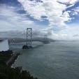 台風翌日の大鳴門橋。