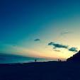 バリ島の夕暮れ