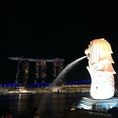 ザ・シンガポールな組み合わせの「マーライオンとマリーナベイサンズ」。誰が撮っても絵になりますね。 #シンガポール #マーライオン #マリーナベイサンズ