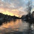 アムステルダム、夕日。