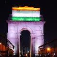 インド🇮🇳 デリー Independence day仕様のインド門