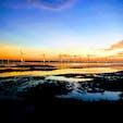 台湾のウユニ塩湖と言われている、高美湿地。