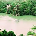 岐阜県 恵那峡 展望台から観た景色