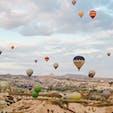 天気に恵まれてカッパドキアの気球に乗れた!!1時間半の空の旅楽しかった🇹🇷 早起きする甲斐があった🌞💕